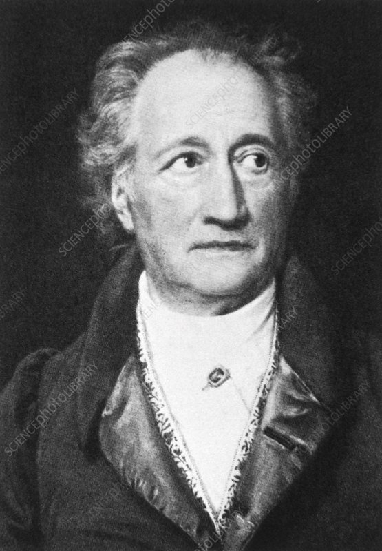 Johann W. von Goethe, German author and scientist