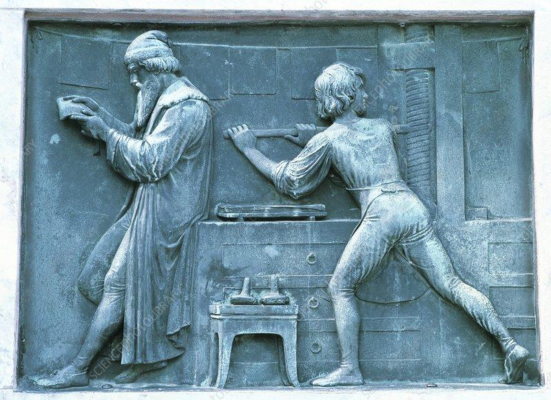 Plaque of Johannes Gutenberg