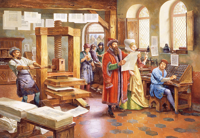 Johannes Gutenberg Stock Image H407 0389 Science Photo