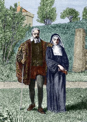 Galileo and his daughter Maria Celeste