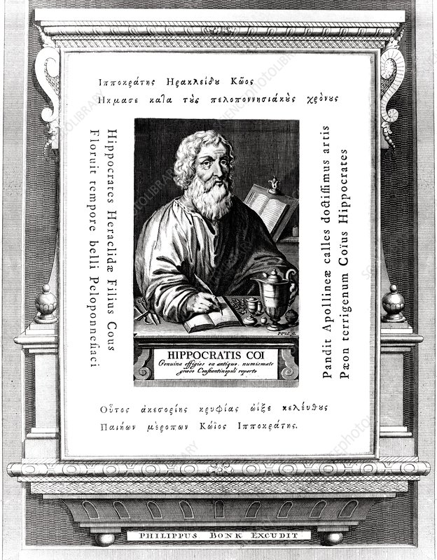 Engraving of Hippocrates