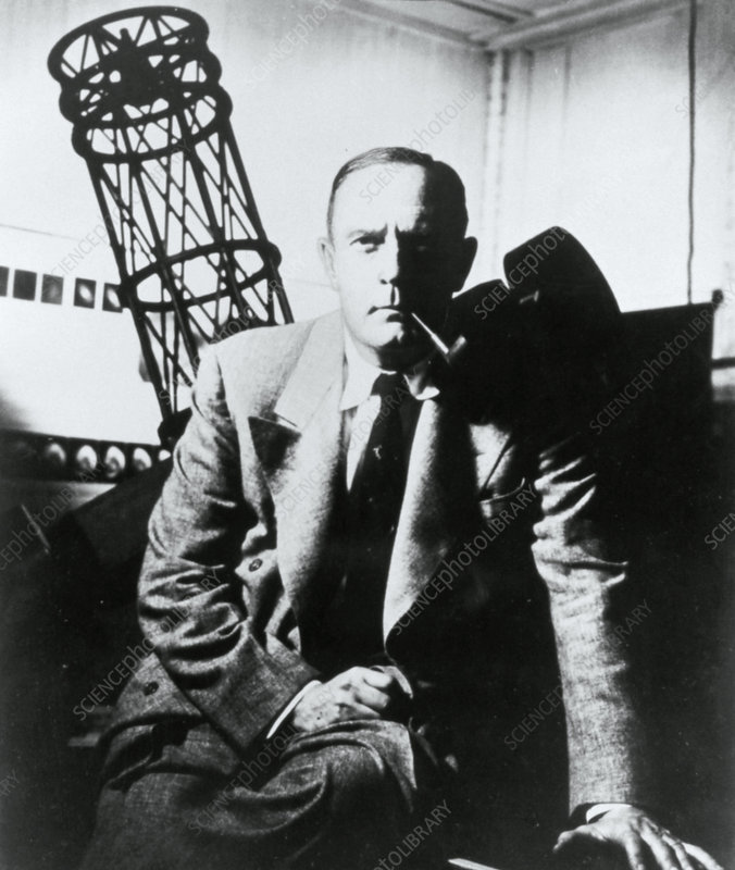 Portrait of the American astronomer Edwin Hubble