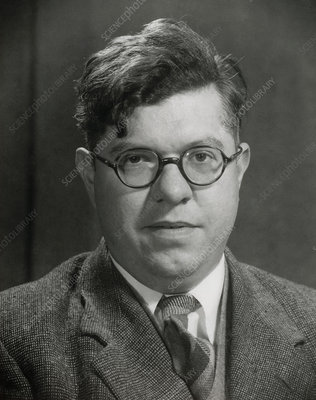 Portrait of Sir Fred Hoyle, astrophysicist