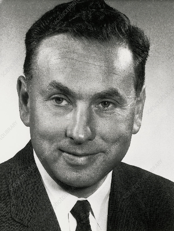 Portrait of Robert Hofstadter, American physicist.
