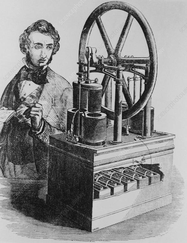 Soren Hjorth, Danish engineer,& his electric motor