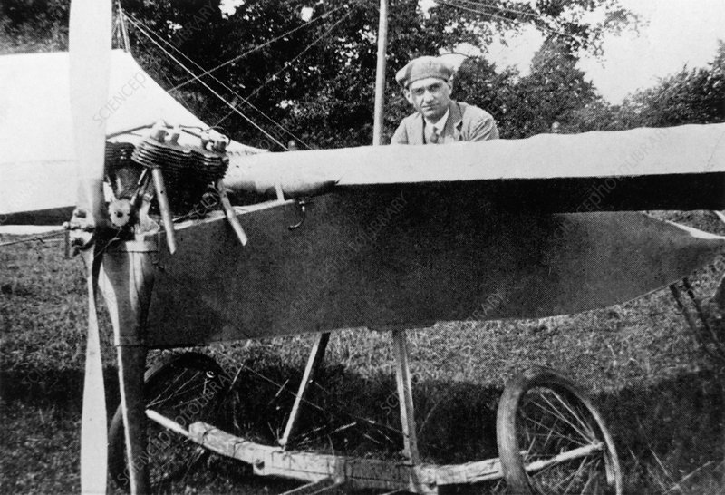 Sir Frederick Handley-Page with his first aircraft