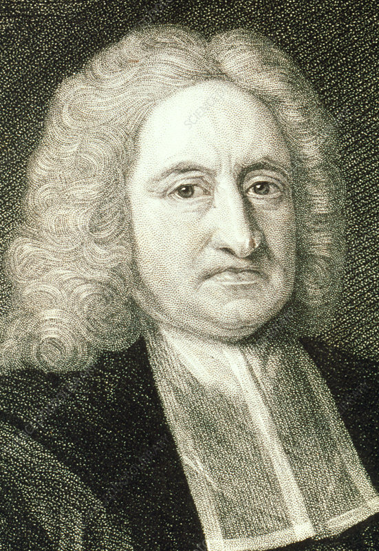 Portrait of the English astronomer Edmond Halley