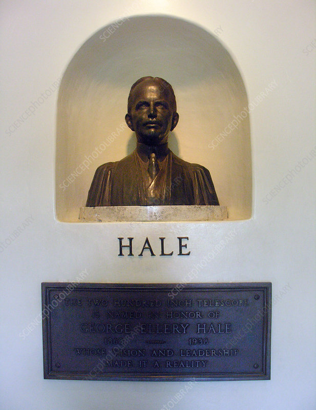 Bust of George Hale, American astronomer