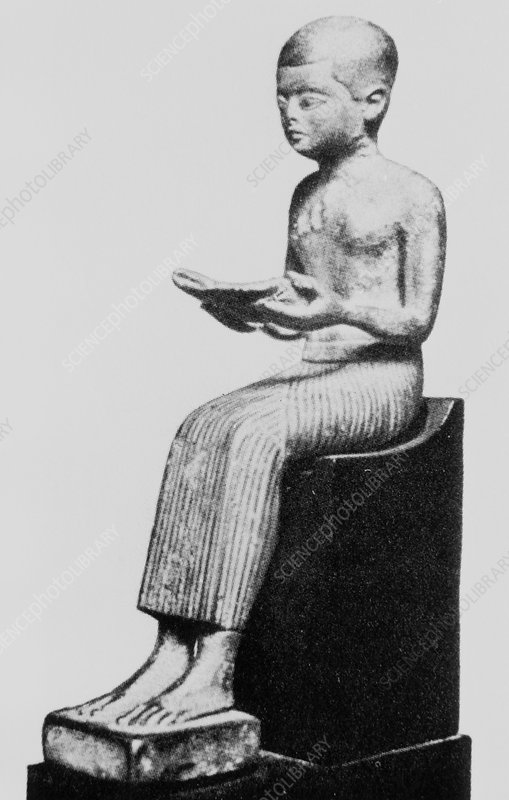 Statue of Imhotep, Ancient Egyptian scholar.