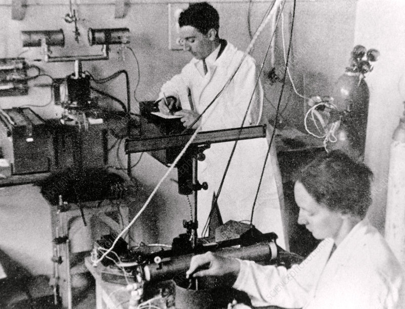 Irene Joliot-Curie and Frederic Joliot