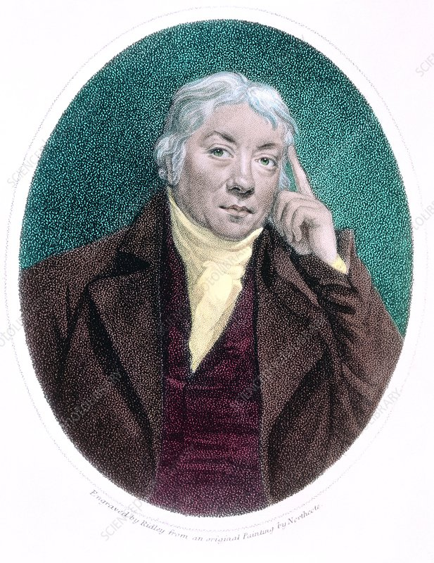 Coloured etching of Edward Jenner