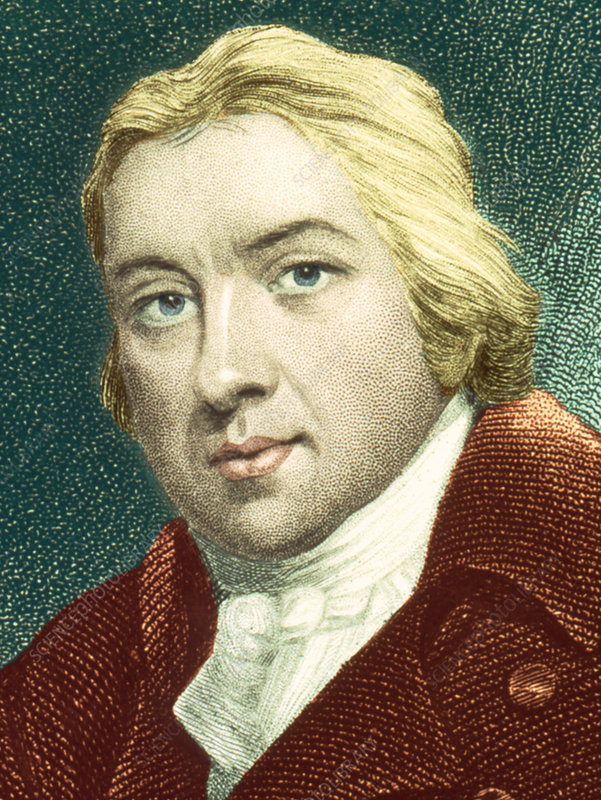 Portrait of Edward Jenner, British physician