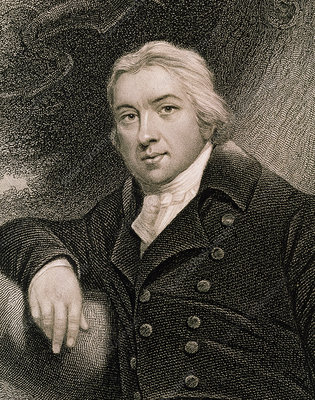 Engraving of Edward Jenner, British physician