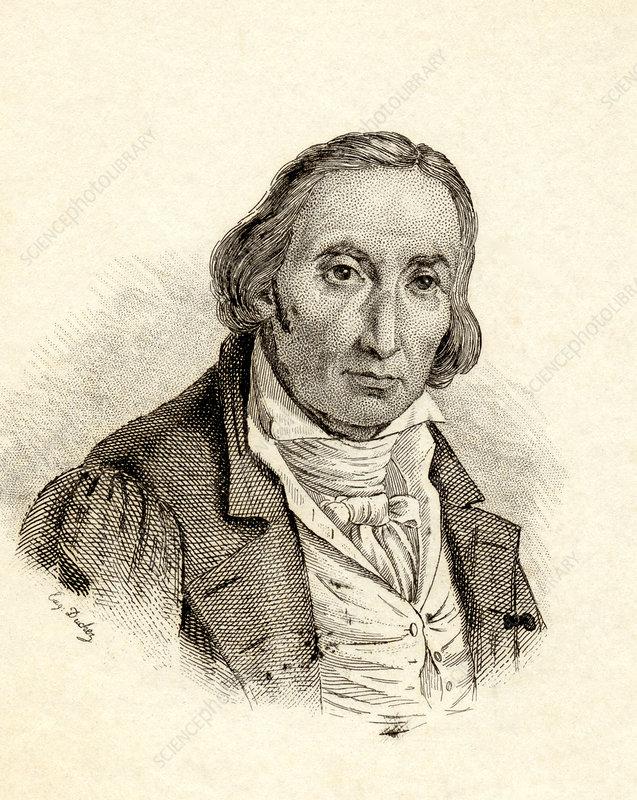 Joseph Marie Jacquard, French inventor - Stock Image - H410