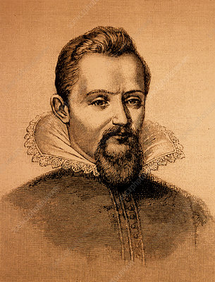 Engraving of Johann Kepler, German astronomer
