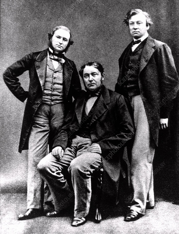 Portrait of Bunsen, Kirchhoff and Roscoe