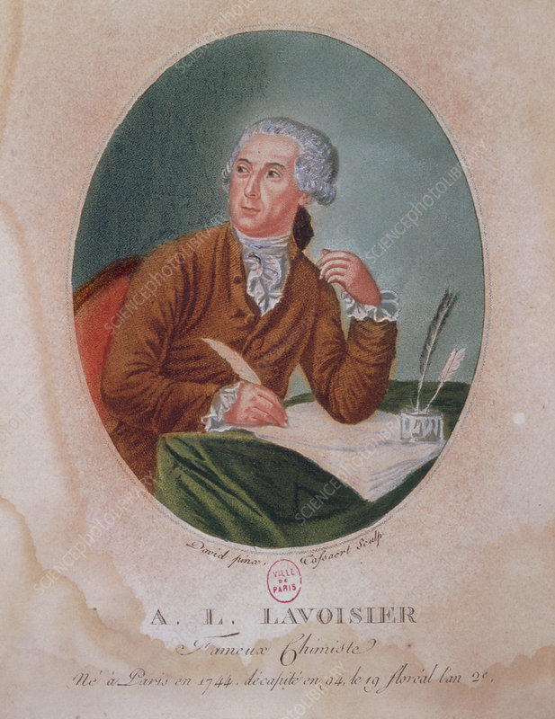 Lithograph of A.Lavoisier made in 1830