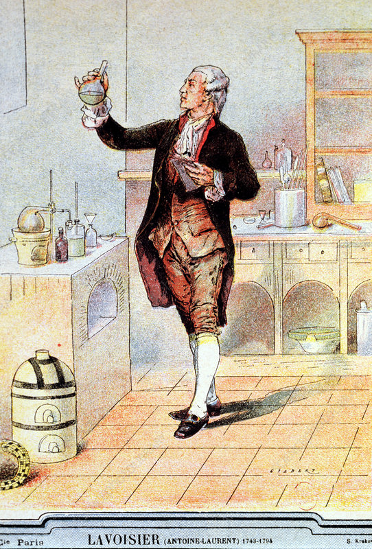 A. Lavoisier from a book of 1900