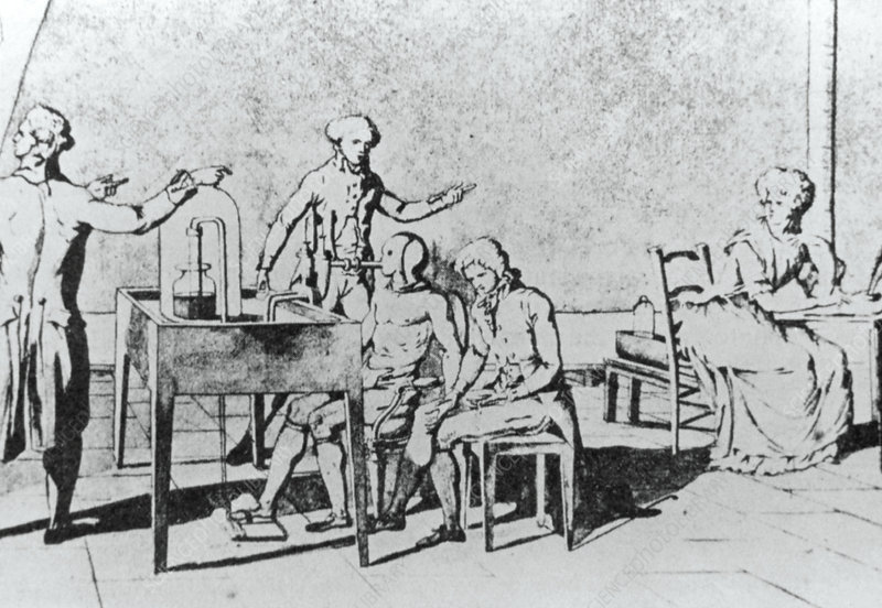 Lavoisier's experiment on human respiration