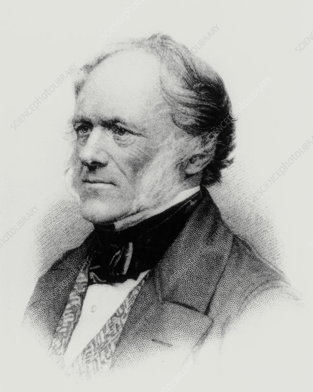 Engraving of English geologist Sir Charles Lyell