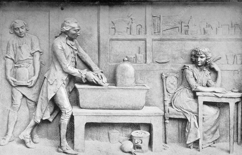 Antoine Lavoisier and wife, chemist