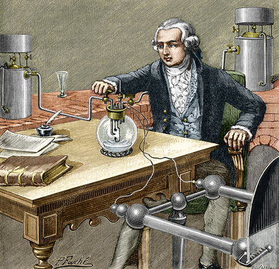 Lavoisier's water formation experiment, 1783