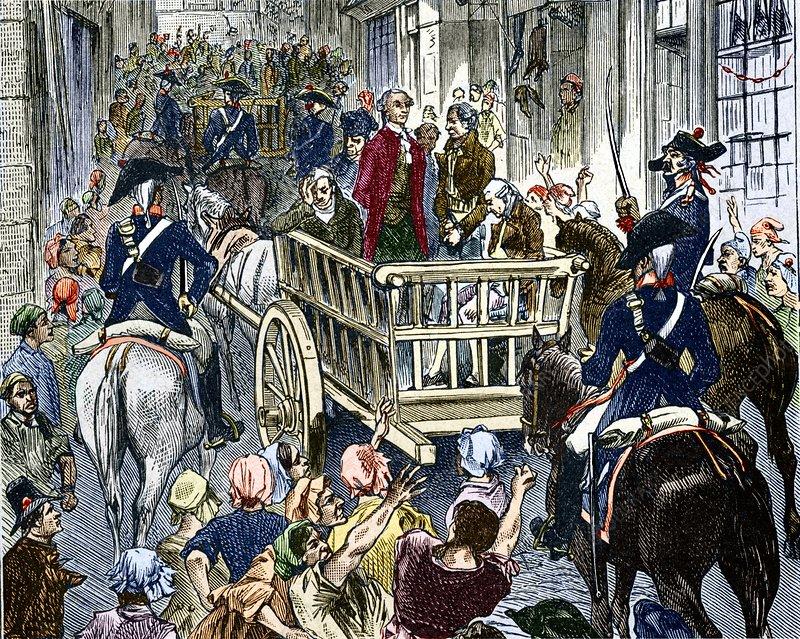 Antoine Lavoisier - chimiste - 1794 H4120469-Execution_of_Lavoisier,_8_May_1794-SPL