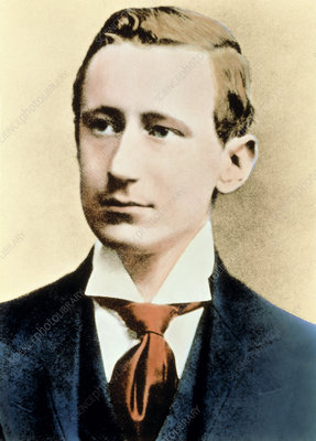 Colour portrait of the Guglielmo Marconi