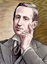 Portrait of Italian physicist, Guglielmo Marconi