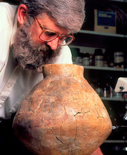 Patrick McGovern & a jar which held ancient wine