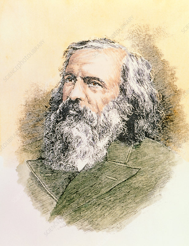Engraving of the Russian chemist Dmitri M