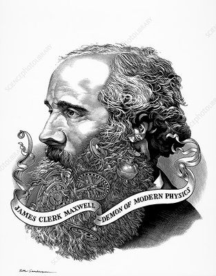 James Clerk Maxwell with his demon