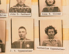 Los Alamos ID photos of Robert & Kath Oppenheimer