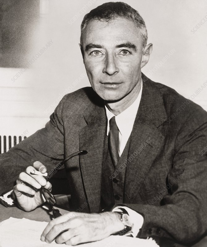 Portrait of Robert Oppenheimer, American physicist