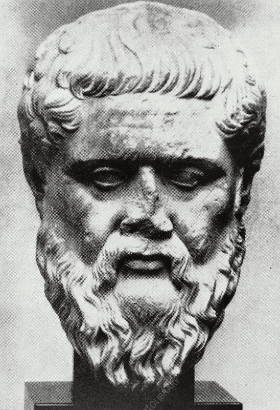 Bust of Plato, ancient Greek philosopher.