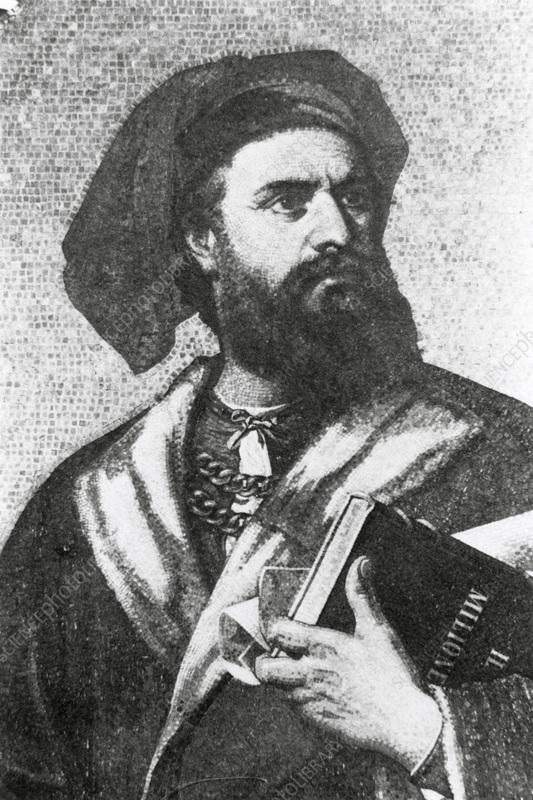 best cheap 0fb29 83a14 Portrait of Marco Polo, Italian explorer. - Stock Image ...