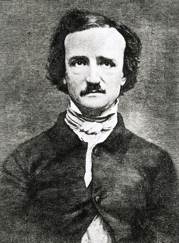 Portrait of Edgar Allen Poe, American author