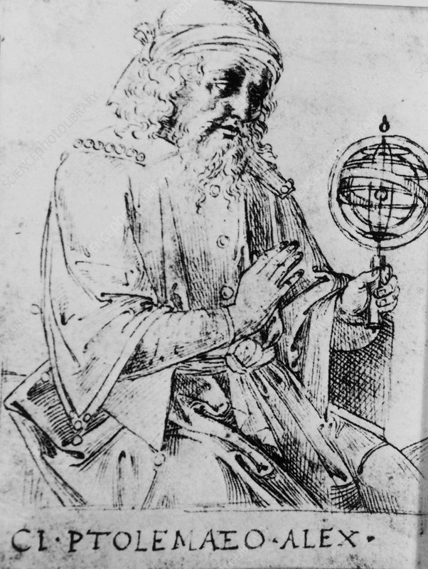 Portrait of the Egyptian-Greek astronomer Ptolemy