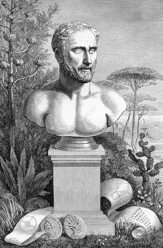 Pythagoras, Ancient Greek philosopher - Stock Image H416/0451 ...