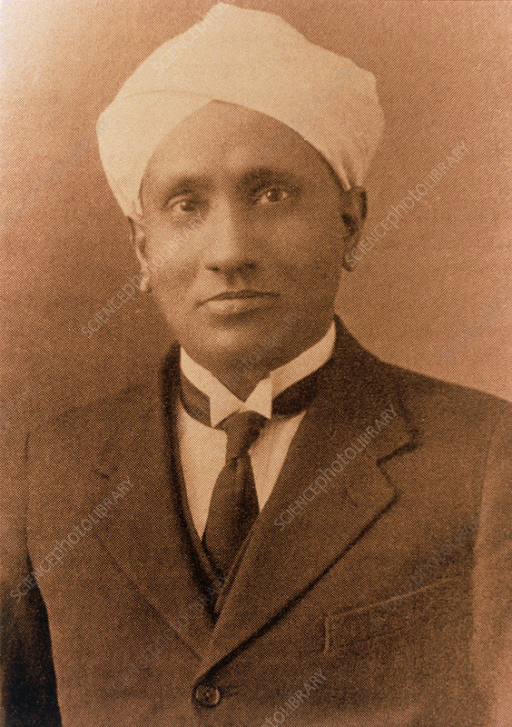 Portrait of the Indian physicist C.V. Raman