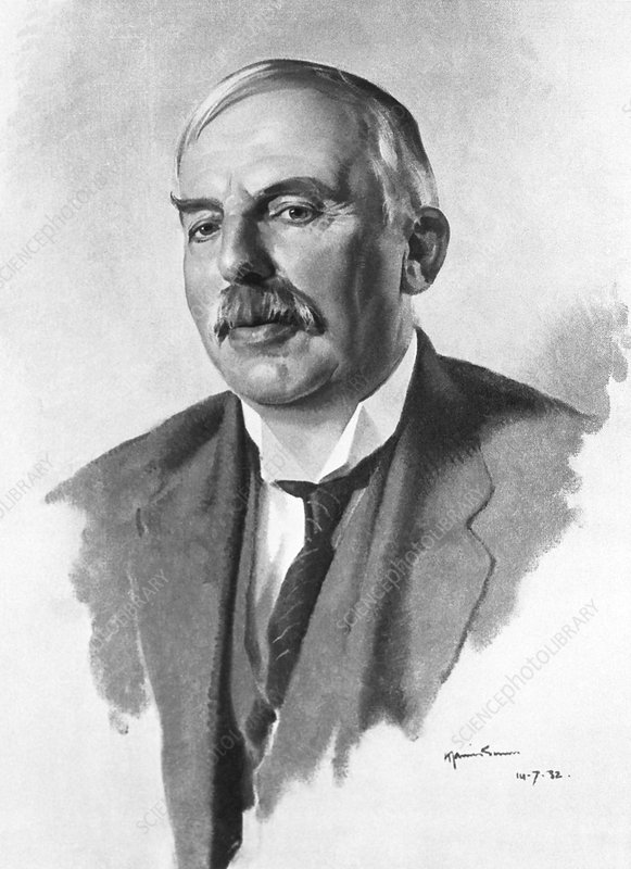 The New Zealand born physicist Sir E. Rutherford