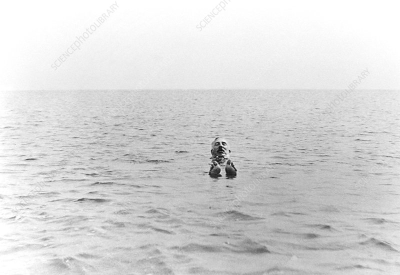 Sir Ernest Rutherford taking a swim in Dorset