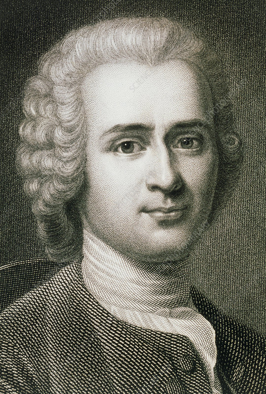 Jean Jacques Rousseau French Philosopher Stock Image