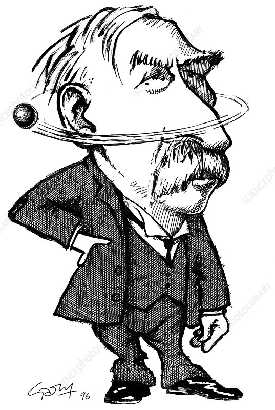 Ernest Rutherford, caricature