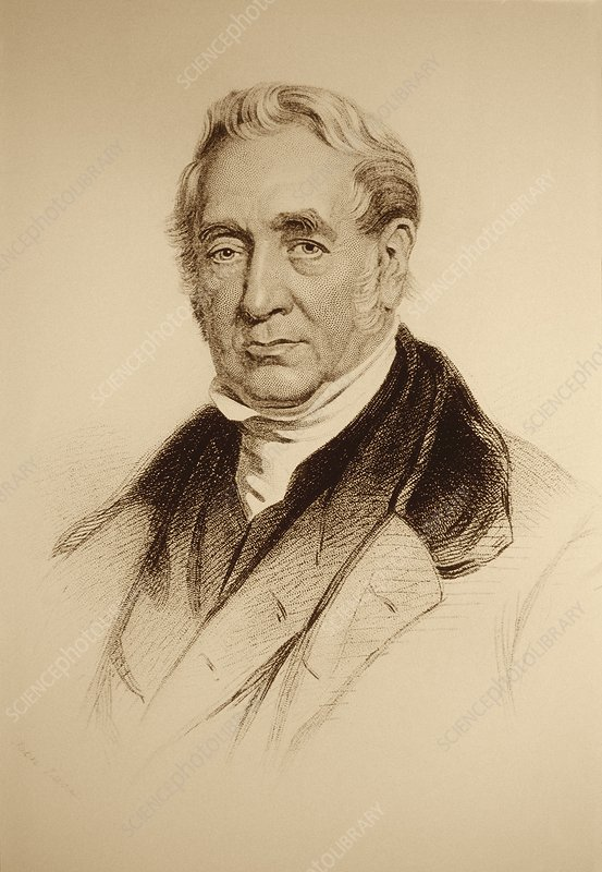 English inventor George Stephenson