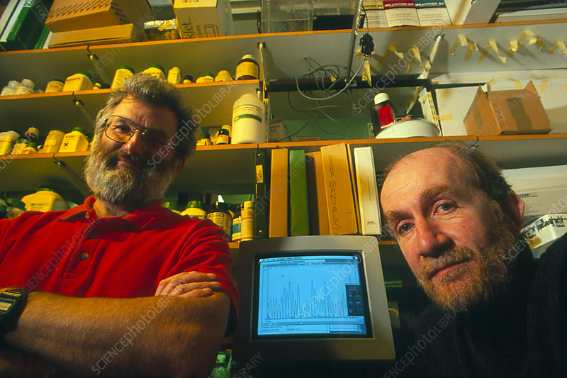 Dr John Sulston & Alan Coulson of the Worm Project