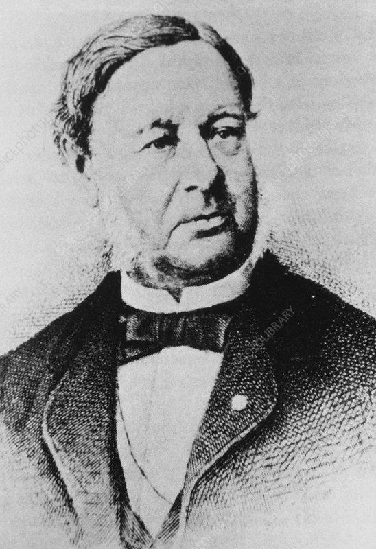 Engraving of the German biologist Theodor Schwann - Stock Image ...