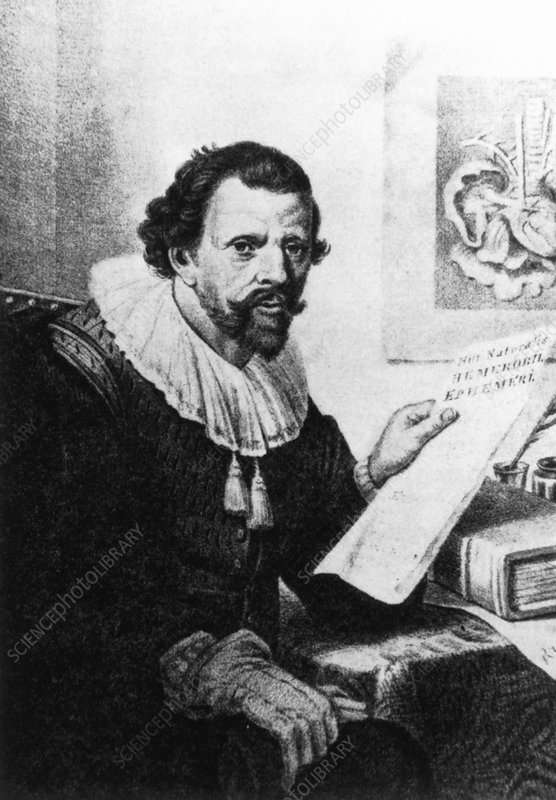 Illustration of Jan Swammerdam, Dutch biologist.