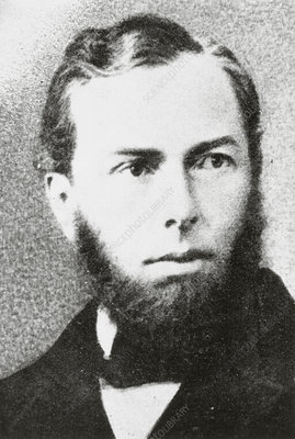 Portrait of Max Schultz, German biologist. - Stock Image H419/0200 ...