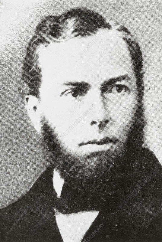 Portrait of Max Schultz, German biologist.